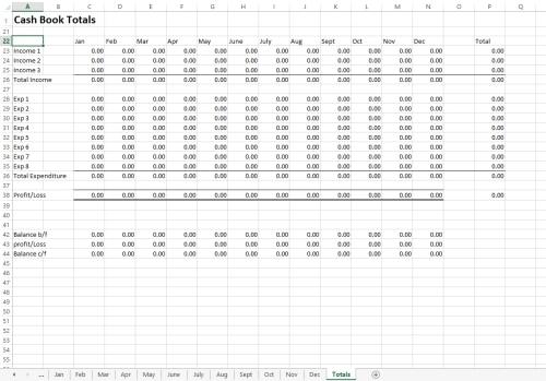 Excel Cash Book Template