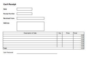 Free cash receipts templates