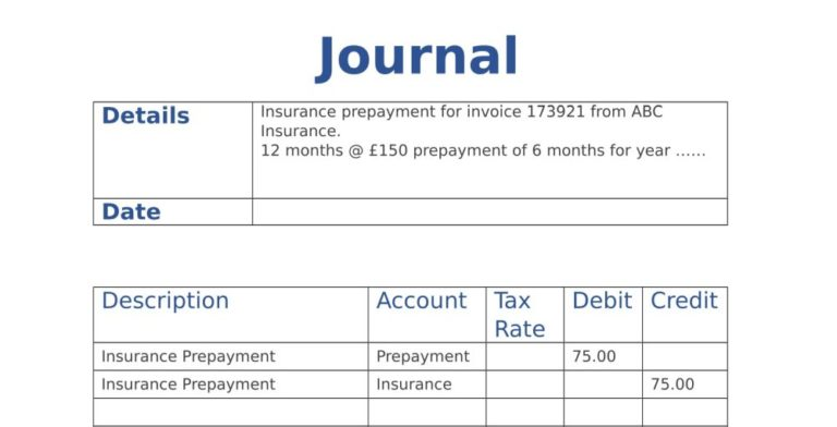 Journal Form for Accounting