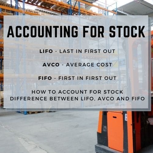 Accounting for stock - LIFO, FIFO and AVCO