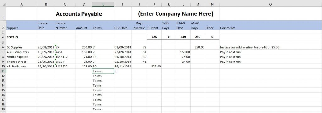 Free Excel Excel Bookkeeping Templates 16 Accounts Spreadsheets