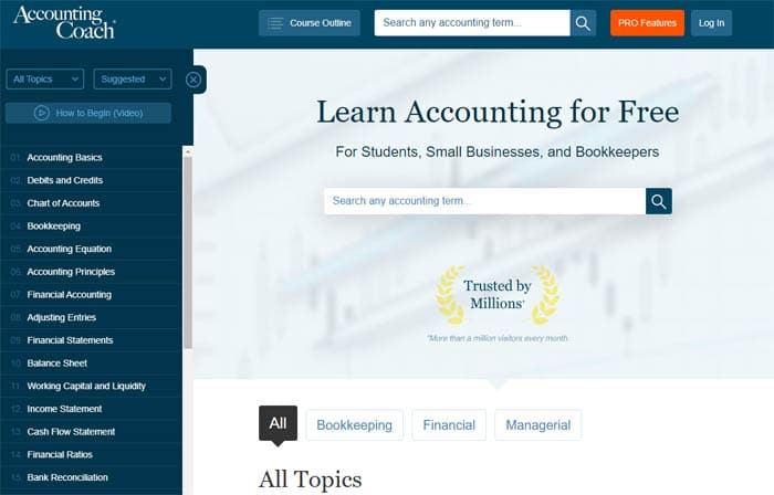Accounting Coach - Free Bookkeeping Courses
