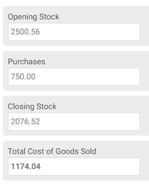Cost of Sales Calculator