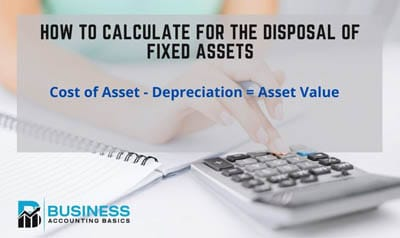Disposal of fixed assets in accounts