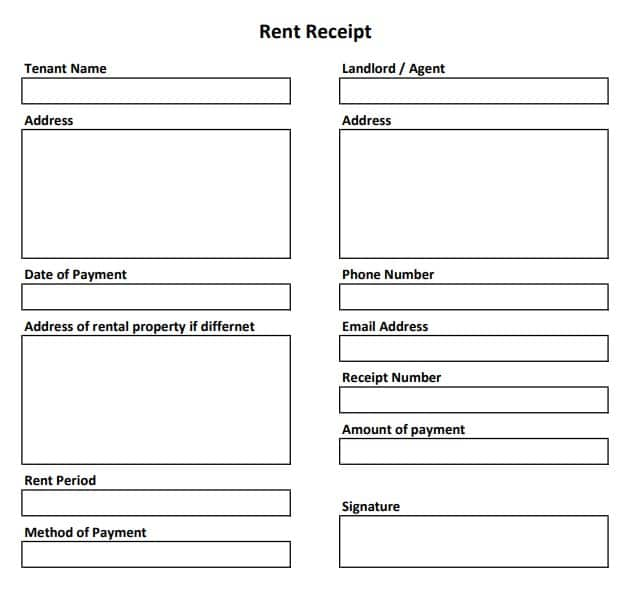Free Rent Receipt Template 3 Templates In Excel And Word