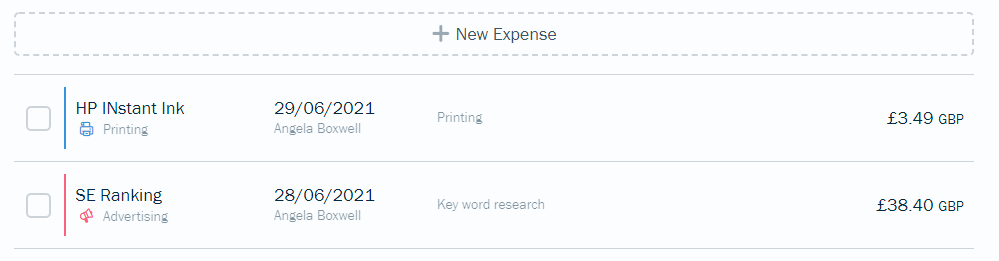 Adding expenses to FreshBooks