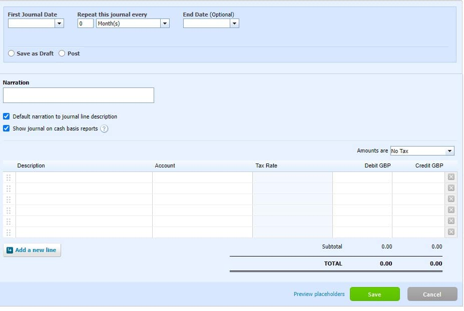 Xero repeating journal for prepayments
