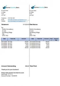 Excel Statement of Account Free