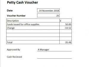 petty cash voucher example