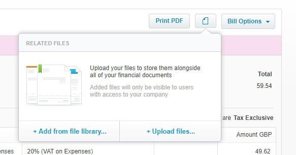 Xero Attach Source Document